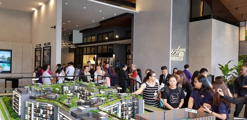 Buyers looking at Daintree Residence during Launch